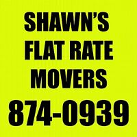 Flat Rate Movers. We can help you with your moving needs.