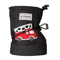 Stonz Black Fire Truck BABY Booties BRAND NEW  size  large 10-24