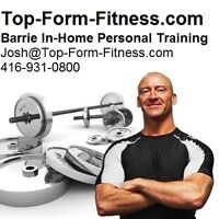 Barrie Personal Trainer - In Home Training