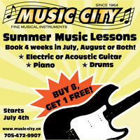 Summer Music Lessons at Music City!
