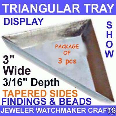 TRIANGULAR TRAY 3pc SCOOP ALUMINUM SEED BEAD WATCH PART