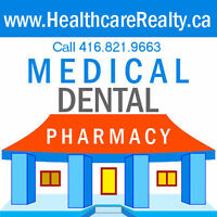 GTA Medical-Dental-Pharmacy & Healthcare Locations For Lease