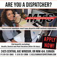 FULL TIME DISPATCHERS NEEDED