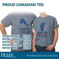 Show Your Canadian/Provincial Pride with a Canadian Tee