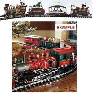 NEW* ANIMATED CHRISTMAS TRAIN SET 384 212450624 HOLIDAY EXPRESS ELECTRIC TOY NEW BRIGHT