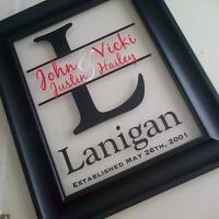 **Family Name Frames - made just for you**
