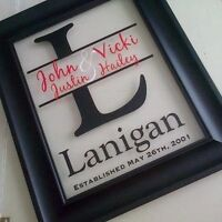 Need a great gift? Custom Family Name Frames