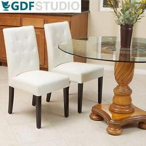 2 NEW GDF STUDIO DINING CHAIRS - 134557277 - IVORY