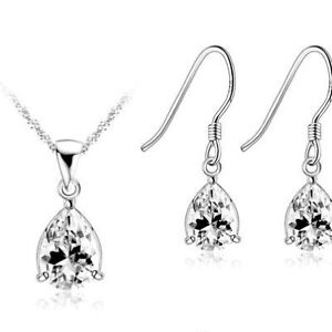 Brand New! 925 Sterling Silver Necklace and earring set