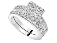 1.5 Ct Diamond & 18 Ct White Gold Bridal Set