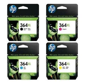 Original HP Set Of 4 Inkjet Cartridges 364XL - Black, Cyan, Magenta, Yellow