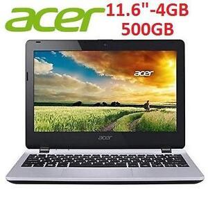 "NEW ACER ASPIRE 11.6"" LAPTOP PC - 113882612 - CELERON N2940 2.25G 4GB 500GB 11.6 11ABGN W7HP"