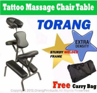 Brand New Torang PORTABLE TATTO MASSAGE CHAIR TABLE BLACK