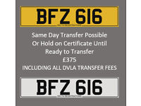 BFZ 616 – Price Includes DVLA Fees – Others Available - Cherished Personal Registration Number Plate