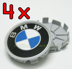 4 cache jante moyeux centre de roue boulon pour bmw plats 68mm ebay. Black Bedroom Furniture Sets. Home Design Ideas