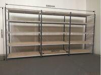 Longspan shelving, 3 joined bays, Shelving, Link 51, racking, £300.00 + vat