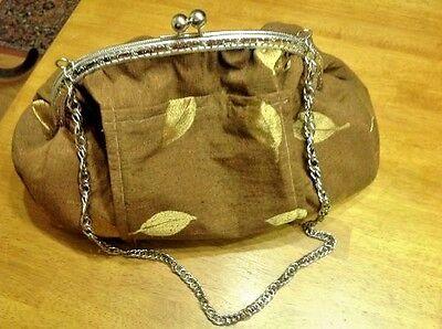 Clasp Satchel Handbag - Handbag Women Shoulder Bag Cross Body Satchel Bag Brown Silk Clasp Closure