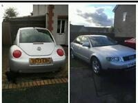 LOOK MY 2 FOR UR 1! 2002 audi A4 2.0L... vw beetle 1.6