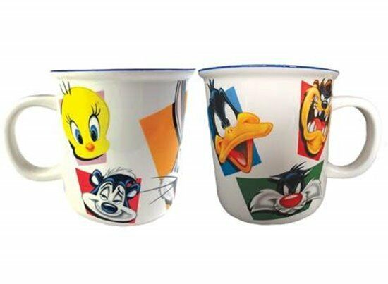 Looney Tunes Character Faces Monster 52 oz Ceramic Mug, NEW UNUSED BOXED #23845