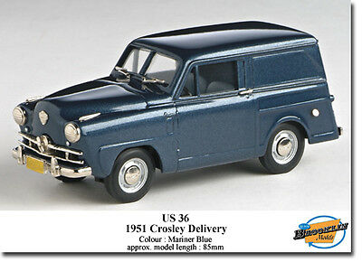 Us Model Mint (brooklin) 1951 Crosley Sedan Delivery Blue Us 36