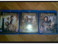 Lord of the rings trilogy (1-3) BLU-RAYS