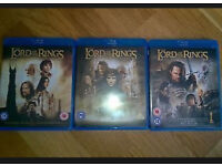 Lord of the rings trilogy + The Hobbit BLU-RAYs