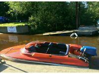 16ft Shakespeare speedboat with trailer