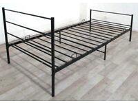 GEMINI SINGLE BED IN BLACK
