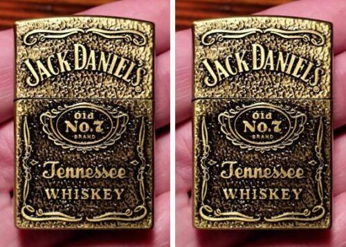 2 Pack-Jack Daniels Brass Butane Refillable Lighter-USA Seller-Ships Same Day