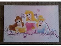 Princess wooden picture