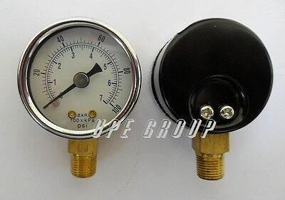 New Pressure Gauge Wog Air Compressor Hydraulic 1.5face 0-100 Lower Mnt 18npt