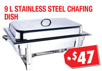 9L Stainless Steel Chafing Dish, Warehouse Sale, $47 Only!!!