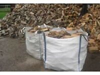 1tonne bulk bag of hardwood seasoned logs £55
