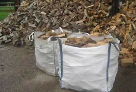 1tonne bulk bag of hardwood seasoned logs. £55