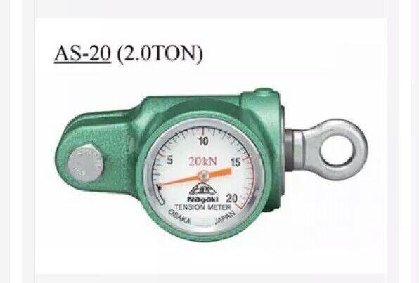 & NAGAKI AS-20 Analogue Tension Meter 20KN(2t) Dynamometer WT 1.2 Kg     56:8
