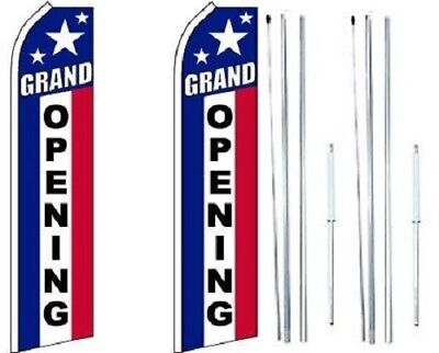 Grand Opening Swooper Flag With Complete Hybrid Pole Set - Pack Of 2