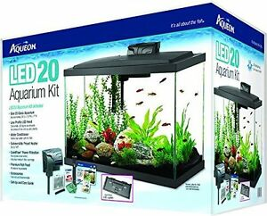 aqueon kit aquarium 20 gallons led neuve