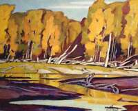 """A.J. Casson """"Grace Lake"""" Lithograph - Appraised at $650"""