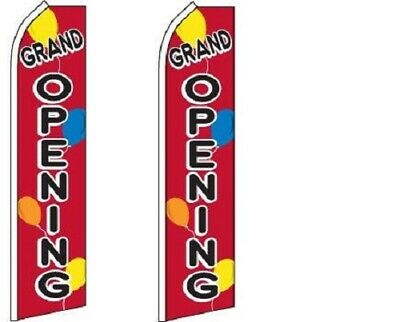 Grand Opening Balloons King Size Polyester Swooper Flag Pk Of 2
