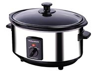 Morphy Richards 48710 Oval Slow Cooker 3.5 L - Polished Stainless Steel - Brand New / Unused