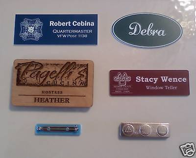 Custom Engraved Name Badges - Name Tags - Free Shipping