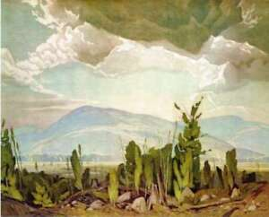"""""""Sun After Rain"""" Lithograph by A.J. Casson appraised at $800"""
