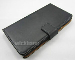 Genuine Leather Wallet Case with Stand For Samsung Galaxy Note 4