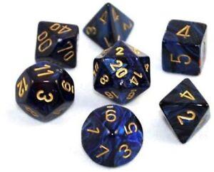 Chessex Opaque Light Blue Polyhedral Würfel Set Spiele-Zubehör