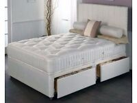 DOUBLE DIVAN BED BASE + MATTRESS IN SINGLE,DOUBLE,KING SIZE FREE DELIVERY