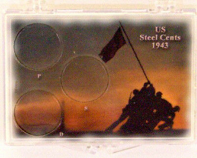 U.S. Steel Cents - Iwo Jima, 2X3 Snap Lock Coin Holders, 3 pack