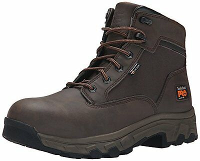 Timberland PRO Men's 6 Inch Linden Alloy Toe Work Boot, Brown Clarino Microfi...