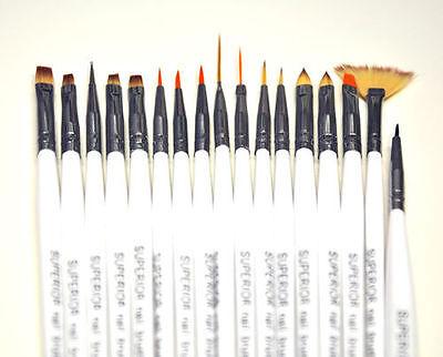 17  tlg  SUPERIOR ® Nail Art & Modellage  GEL Pinsel  Set  DAS ORIGINAL ! ®