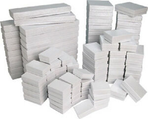 New-100-White-Cotton-Filled-Jewelry-Gift-Boxes-assortment-or-any-size