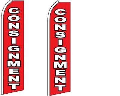Consignment King Size Swooper Flag Sign Pack Of 2 Hardware No Included